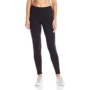 Hanes Women's Stretch Jersey Legging, Black, Large