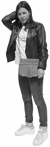 histoireDaccessoires - Bolso con Bandolera de Cuero de Mujer - SA152821L-Timeo Beige