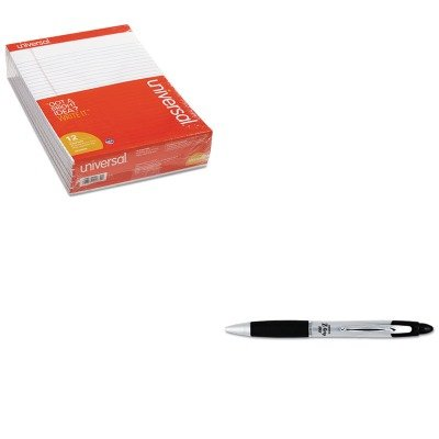 KITUNV20630ZEB22410 - Value Kit - Zebra Z-Grip MAX Ballpoint Retractable Pen (ZEB22410) and Universal Perforated Edge Writing Pad (Zeb22410 Zebra)