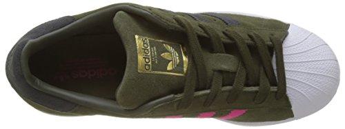 Carbon 000 Adidas Superstar Deporte Zapatillas Carnoc Rosimp para de W Mujer Verde WTUgzw1
