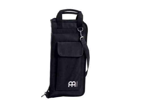 Meinl Percussion Drum Stick Bag with Extra Outside Pocket and Floor Tom Hooks - for Mallets, Brushes and Accessories, Black (MSB-1)
