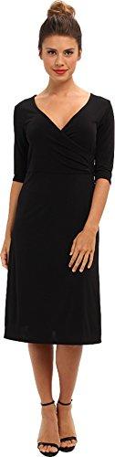 3 4 sleeve black dress - 1