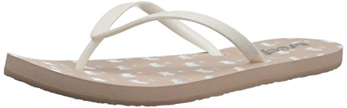 Ultimate Thong Flip Flop (Reef Women's Stargazer Prints Sandal, Taupe Palms, 9 M US)