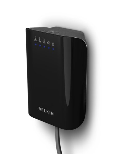 Belkin 200 Mbps Powerline 3-Port Adapter (Black)