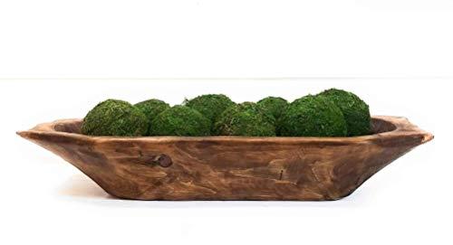Farmhouse Rustic Wooden Decorative Bowl-Unique Dough Bowl- The Big Horn (Bowls Wooden Decorative)