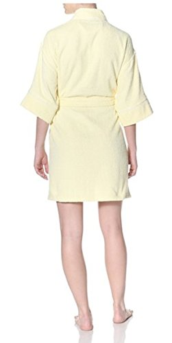 Aegean Apparel Women's Terry Loop Kimono Robe with Contrast Piping 36
