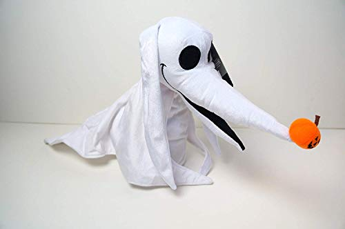 Tim Burton 20 Inch The Nightmare Before Christmas 25 Years Zero Animated Musical Plush with Light Up Nose - Plays This is Halloween