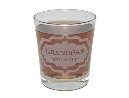 Grandpa's Sippy Cup - Engraved Hi-Ball Rocks Glass - 13 Oz - Permanently Etched - Fun & Unique Gift!