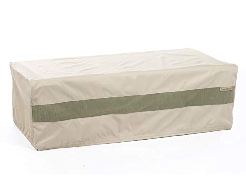 Covermates - Outdoor Patio Rectangular Accent Table Cover 50W x 30D x 25H - Elite Collection - 3 YR Warranty - Year Around Protection - Khaki