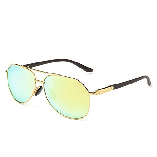 A-Roval Men Polarized Round Large Fashion Metal - Jackie Kennedy Glasses