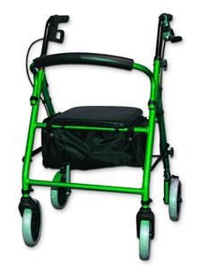 Single Invacare - Soft Seat Aluminum Rollator with Round Back 1 Each Single Color Green Invacare Supply Group ISGKDGRN (Each)