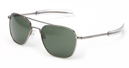 Randolph Aviator Sunglasses Gun Metal / Bayonet / AGX Glass - L&p Sunglasses