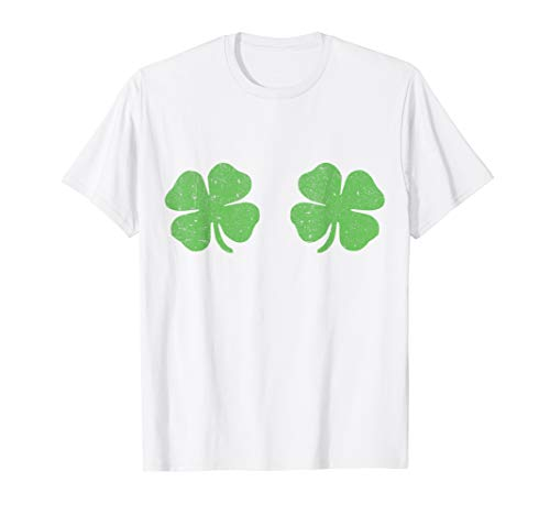 Irish Shamrock Boobs Saint St.Patrick's Paddys Day T-Shirt -