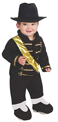 Michael Jackson Ez-On Romper Costume, Black,
