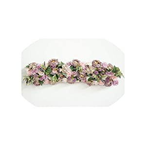 Simulation Flower Arch Wedding Flowers Shop Window Decoration Wedding T Taiwan Cited Photo Studio Photography Props,D 80