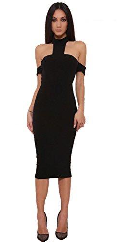 Sexy Black Halter Style Dress - 9