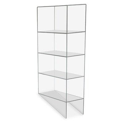 TrippNT 50112 Clear Acrylic Benchtop Pipette Rack, 4