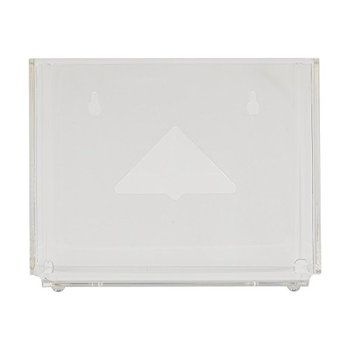 Georgia-Pacific GP Pro Vista Wiper Dispenser for 1/4 Fold Wipers, 54300 (6 Dispensers Per Case), Clear (Pack of 6) (Wipers Dispenser Box)