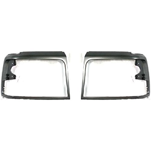 New Bezel Set (Diften 168-C1549-X01 - New Head light Headlight Doors Headlamp Bezels Set of 2 Left & Right Side Pair)
