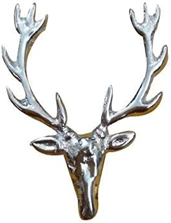 Silver Scottish Whole Stag Pewter Lapel Pin Badge
