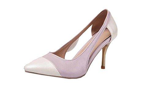Frühjahr neu PU Shallow Mund Schuhe mit hohen Absätzen Lila