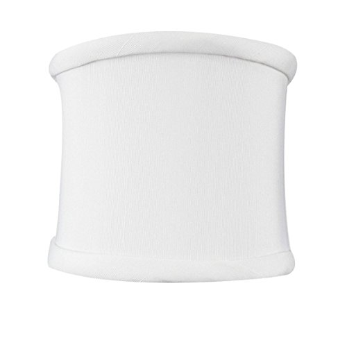 Half Lamp Shades - 4x4x4.25 Down White Clip-on Sconce Half-Shell Lampshade By Home Concept - Perfect for chandeliers, foyer lights, and wall sconces -Small, White