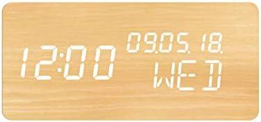 Evoom Wood - Despertador electrónico Qi inalámbrico para Smartphone y termómetro, Madera Natural: Amazon.es: Hogar