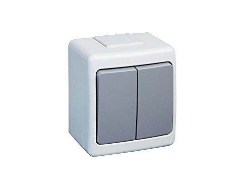 EPN –  Interruptor de encendido de doble interruptor IP44 10 A/250 V Humedad W/2 Kolor