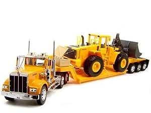 Kenworth W900 Low Boy Trailer Truck with Bulldozer 1:32 Scale