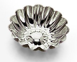 Tinned Steel Fluted Tartlet Mold - Gobel Petit Four Mold Fluted Round Heavy Tinned Steel 2