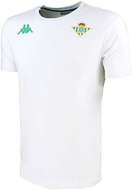 Camiseta de algodón de manga corta - Real Betis Balompié 2018/2019 - Kappa Zoshim Tee - Blanca - Adulto: Amazon.es: Ropa y accesorios