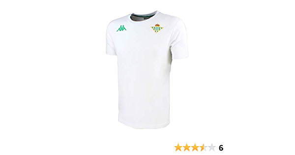 Real Betis Balompi/é 2018//2019 Adulto Blanca Kappa Zoshim Tee Camiseta de algod/ón de manga corta
