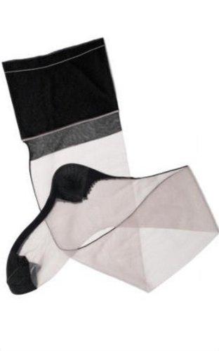 SEDUCTION nylon Cervin Calze cucitura grigio Nero con per reggicalze COUTURE BICOLOR di 0n01WqAdE