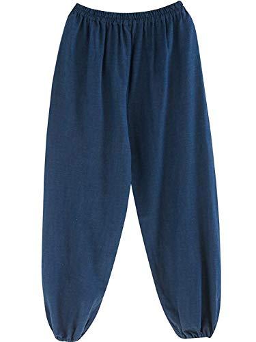 Solide Printemps Longue Lâche Lin Décontracté Léger Base Pour Blau Taille Hommes Coton Été Élastique Couleurs Pantalons Droite EnO6f0qv0