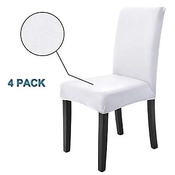 Veakii R Fundas para sillas Pack de 4 Fundas sillas Comedor, Lavable Comedor Asiento Cubre para el Comedor casero Modern Bouquet de la Boda, Hotel, ...