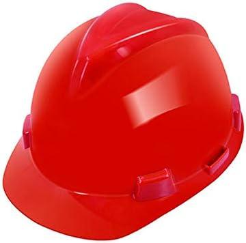 MEI XU 建設安全ヘルメット - 建設現場アンチコリジョンABS高強度高温保護ヘルメット(4色オプション) // (色 : 赤)