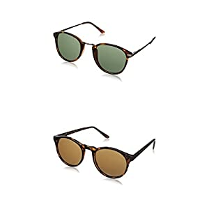 A.J. Morgan Castro and Grad School Round Sunglasses - Two-Pack (Tortoise)