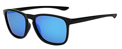 blue ESPEJO LENTES polarizadas de TIANLIANG04 D'epoca de sol UV400 de hombres W gafas Piazza sol de azul w calidad Black DE lujo de negro Mens gafas Diseño mirror gafas Marca espejo wXOrqyZCOR