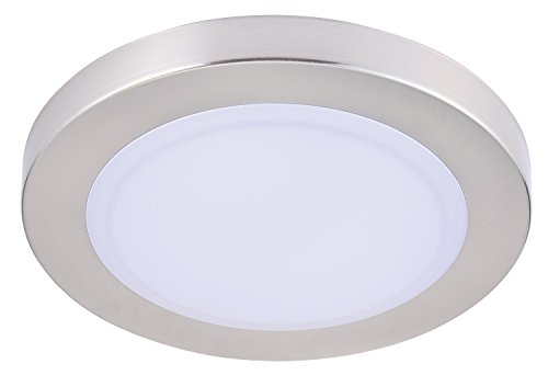 Cloud Fixture - Cloudy Bay LMFFM712830BN 7.5 inch LED Mini Flush Mount Ceiling light 3000K Warm White Dimmable 12W 840lm -100W Incandescent Fixture Equivalent, bathroom hallway stairway lighting, Wet Location