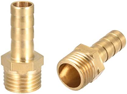 Lat/ón de conector de manguera de leng/üeta de combustible 5 piezas agua Sin Marca 1//4 Macho BSPT x 5//8 16mm gas