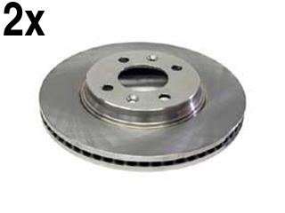 - Saab 900 9000 (87-94) Brake Disc set Front (x2 rotors) FREMAX