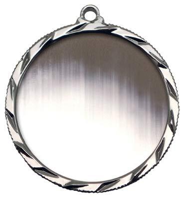 エクスプレスメダル シルバー 2位目 ブランクメダル ネックリボン付き 022 B07HL6WYV5  10
