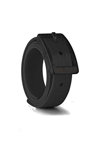 Switch Belt Pitch Black Custom, Cut-to-Fit, Waterproof Belt- Interchangeable Accessory Belt and Buckle - Premium Golf & Active Lifesyle Apparel - Add Style and Practicality to All Your Attire. - Made from 100% Recycled Material. (Custom Made Belt Buckles)
