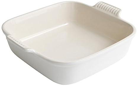 Le Creuset 91005723140100 - Bandeja cuadrada de cerámica de gres, 30 x 23 cm, 4/6 personas, 2.8 l: Amazon.es: Hogar