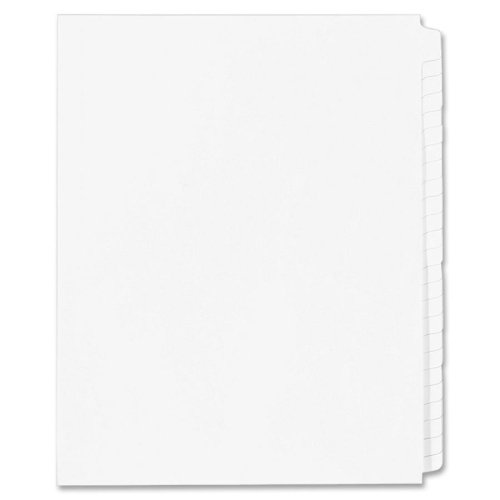 Wholesale CASE of 25 - Kleer-Fax Blank Side Tab Index Dividers-Index Dividers,Blank Tabs,Side Tab,1/25 Cut,Letter,White
