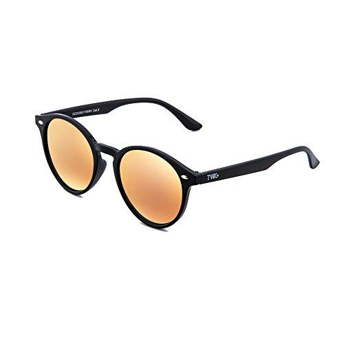 Gafas sol POLLOCK espejo redondo hombre de mujer TWIG Negro Rosa SwF5rvnSq