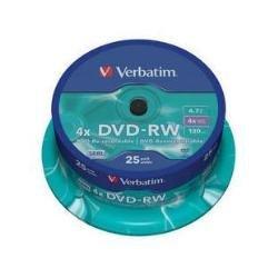 62 opinioni per Verbatim DVD-RW Dischi riscrivibili 1x-4x, 120min 4.7Gb Ref 43639 [Pacco da 25]