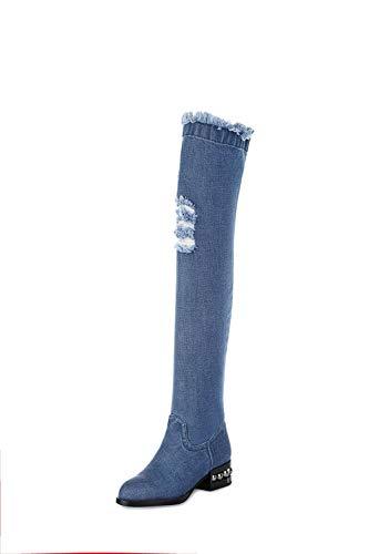 5 Abm12968 Bleu Sandales Compensées Balamasa Bleu 36 Femme w8q7100xR