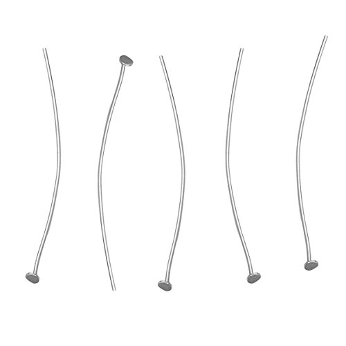 - HOUSWEETY 925 Sterling Silver Head Pin Needles for Jewelry Making, About 25pcs