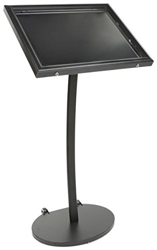 Displays2go Magnetic Menu Display Stand, Waterproof, UV Inhibitor Lens, Wheels, Black (ODMAG598BK)